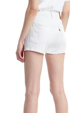 Short Levis 510 High Rise Weiße Damen