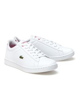 Schuh Lacoste Carnaby Weiß Rosa
