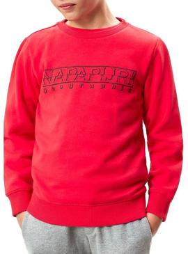 Sweatshirt Napapijri Boli Winter Rot Für Junges
