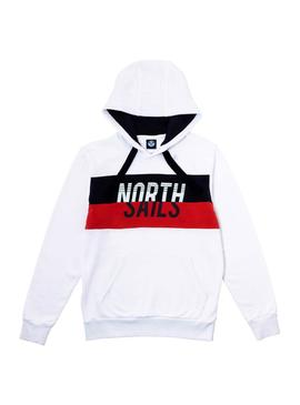 Sweatshirt North Sails Block Haube Weiß Herren