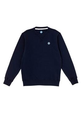 Sweatshirt North Sails Basic Blau Herren