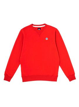 Sweatshirt North Sails Basic Rot Herren