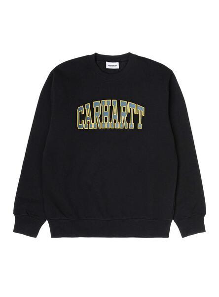 Sweatshirt Carhartt University Black Herren