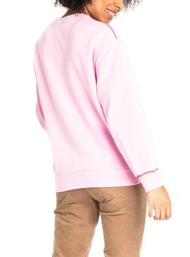 Sweatshirt Lee Pinkes Logo Damen