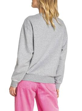 Sweatshirt Lee Logo Grau Damen