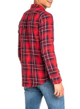 Hemd Lee Button Down Rot Herren