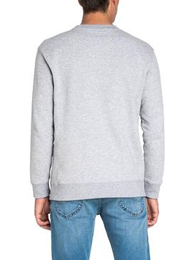 Sweatshirt Lee Basic Grau Herren