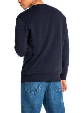 Sweatshirt Lee Basic Blau Herren