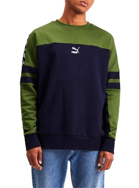 Sweatshirt Puma XTG Blau Grün Für Herren