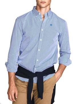 Hemd North Sails Regular Blau Herren