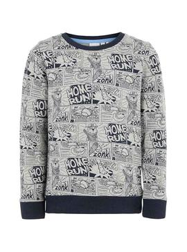 Sweatshirt Name It Otoon Grau Junge