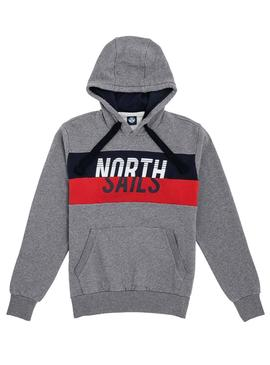Sweatshirt North Sails Band Grau Herren