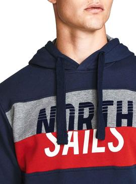 Sweatshirt North Sails Band Blau Herren