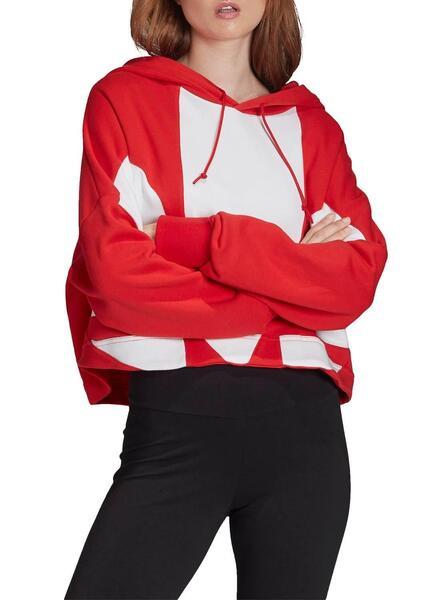 Sweatshirt Adidas Logo Rot Für Damen