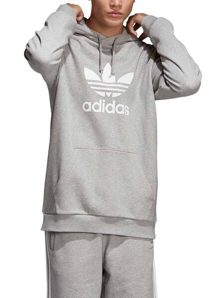 Sweatshirt Adidas Trefoil Hoofie Grau Für Herren