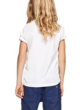 T-Shirt Pepe Jeans Raury Weiß Junge