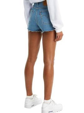 Short Levis Brustkorb Denim Claro für Damen