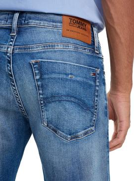 Short JeansTommy Light Blue Scanton Herren Jeans