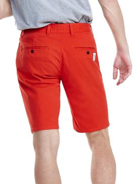 Shorts Tommy Jeans Essential Chino Rot Mann
